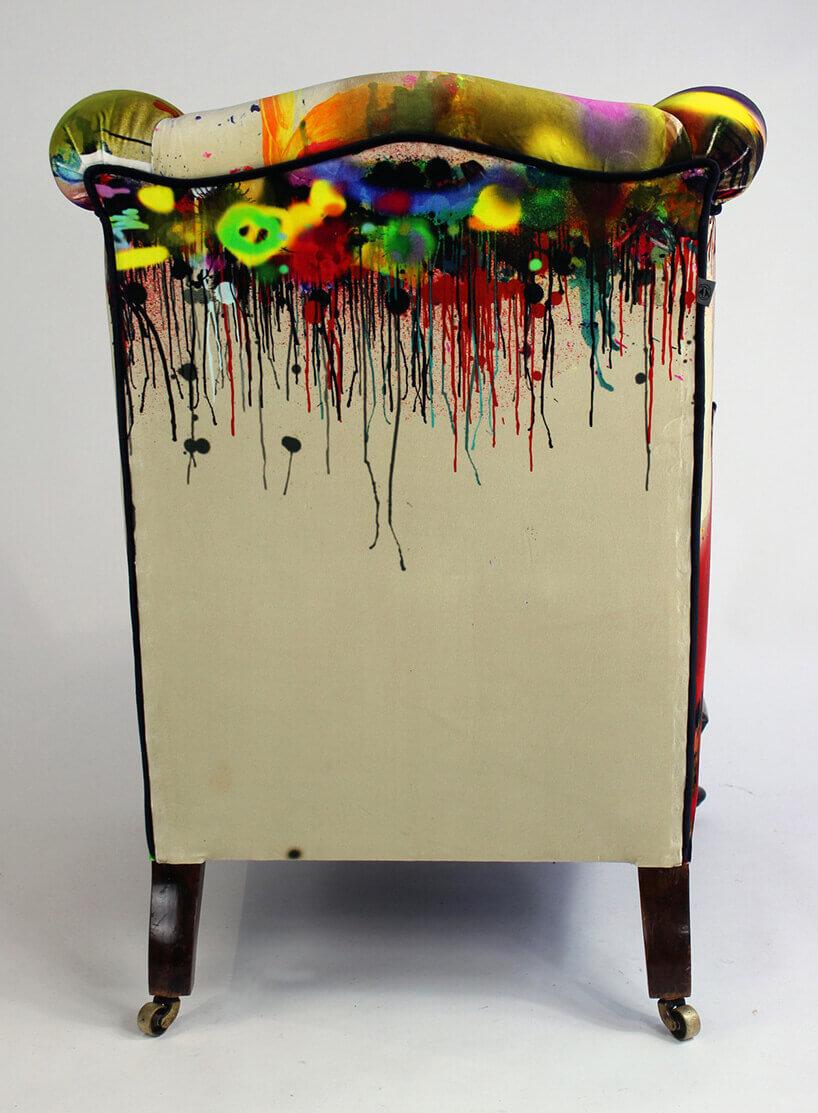 plecy fotela wjaskrawe kolory