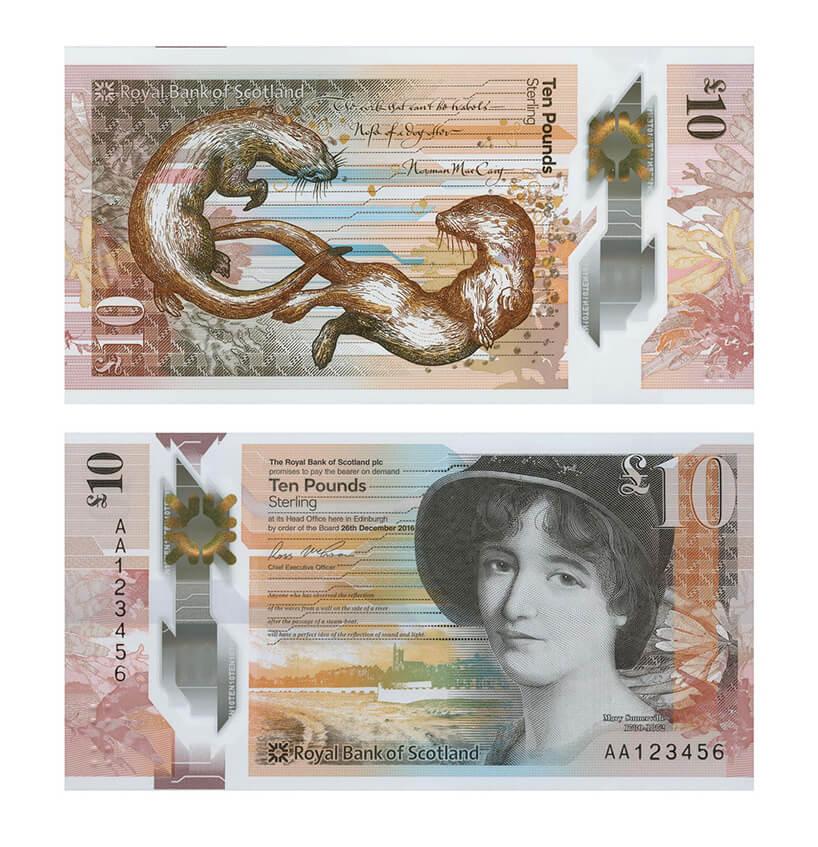 awers irewers zaprojektowanego banknotu