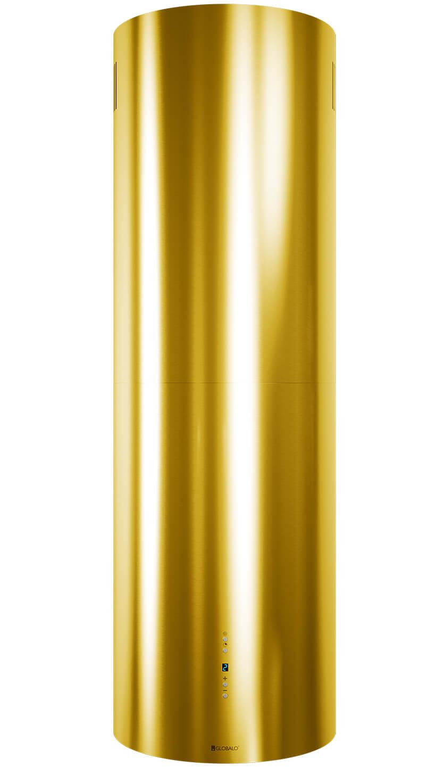 złoty okap kuchenny Cylindro od Globalo wcałości