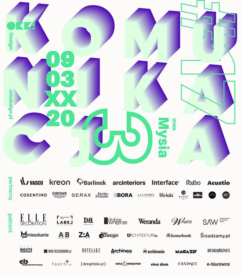 plakat wraz zpatronami 17. edycji OKK! design