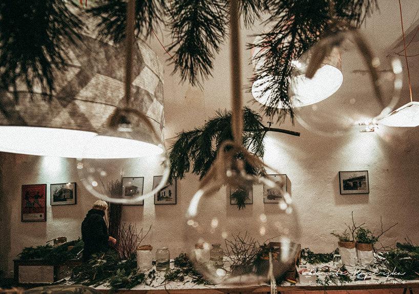 świątecznie udekorowane wnętrze