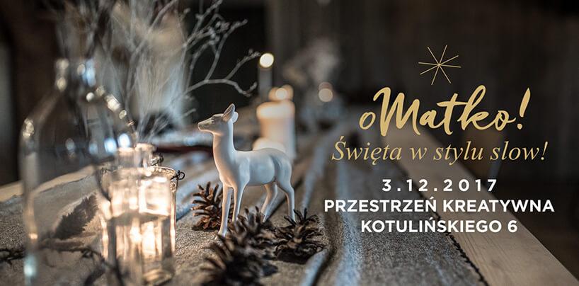 zaproszenie na Święta wstylu Slow 2017