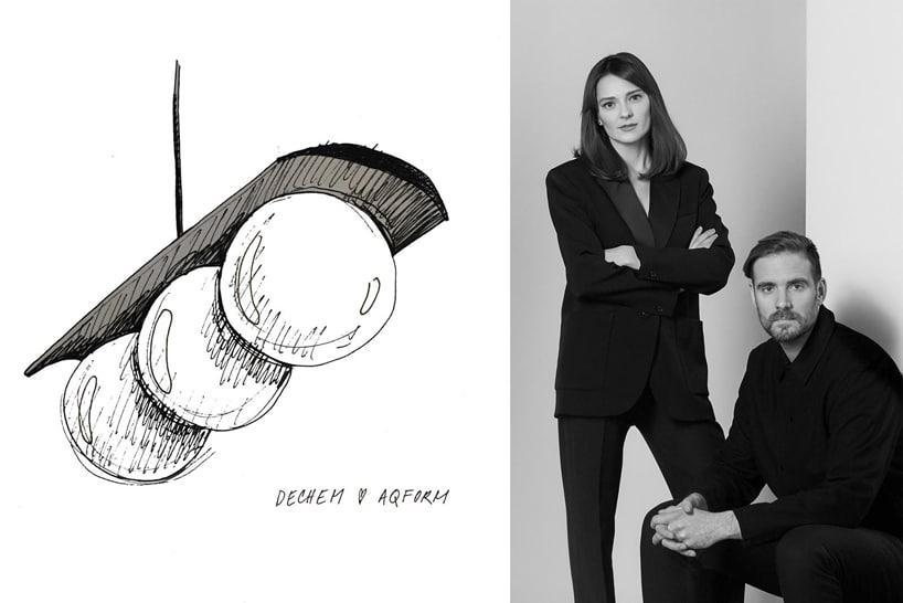 czarno białe zdjęcie projektantów Modern Ball opok szkicu produktu