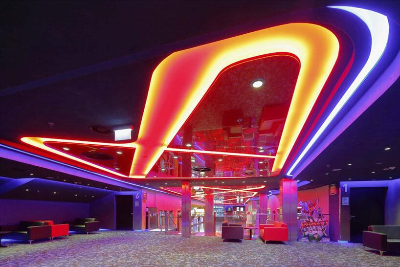 neonowe wielobarwne oświetlenie wnętrza