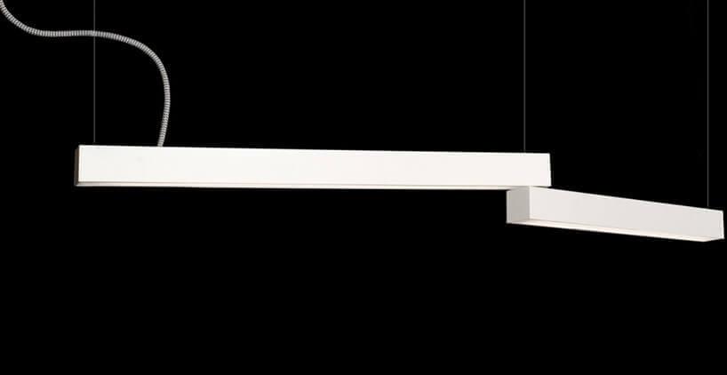 długie podłużne biała lampa
