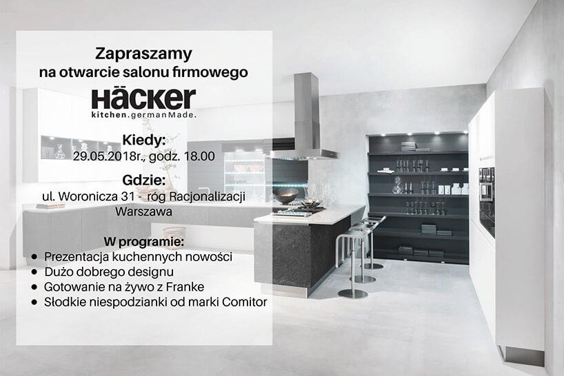 zaproszenie na otwarcie Häcker wWarszawie