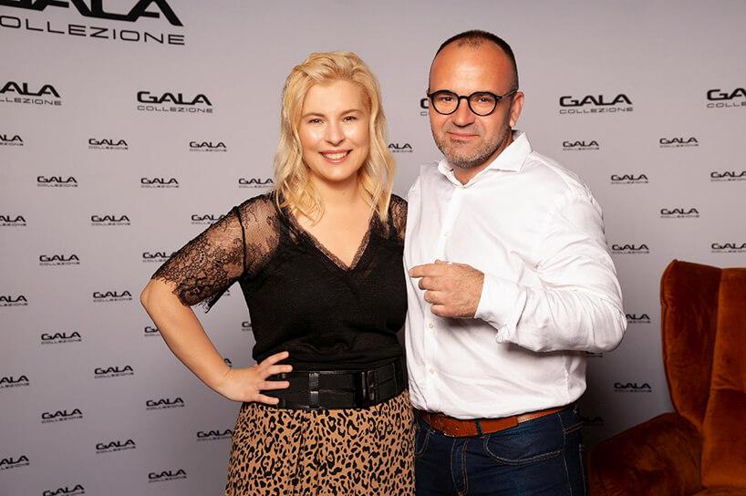 Kazimierz Banulski na otwarciu salonu Gala Collezione Warszawa