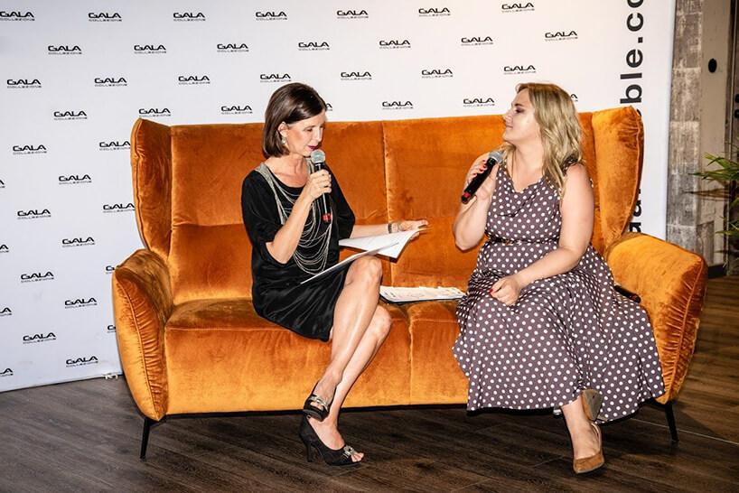 Ewa Mierzejewska iJustyna Roźniakowska na otwarciu salonu Gala Collezione Warszawa