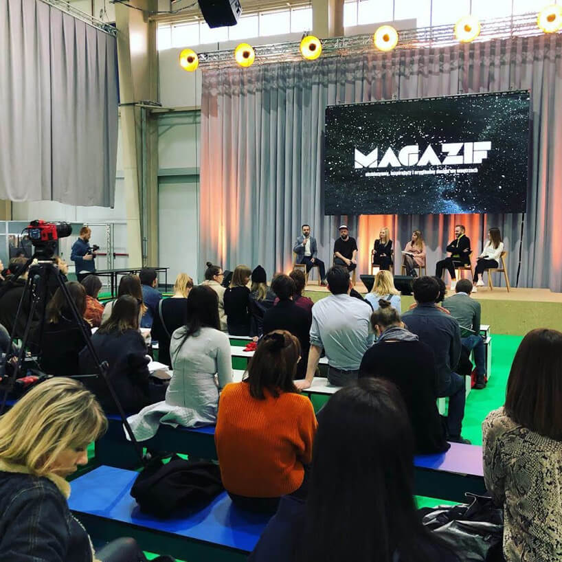słuchacze podczas panelu MAGAZIF na Arena Design 2019