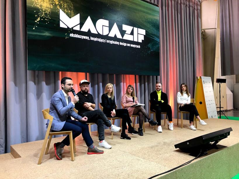 zdjęcie wszystkich sześciu uczestników panelu MAGAZIF na Arena Design 2019