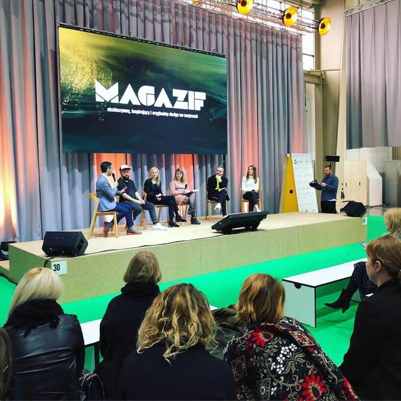 zdjęcie sceny na panelu MAGAZIF na Arena Design 2019