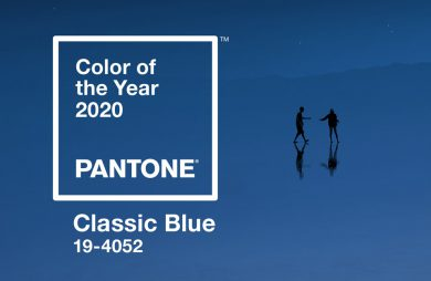 Pantone color of the year 2020 Classic Blue kolor roku 2020