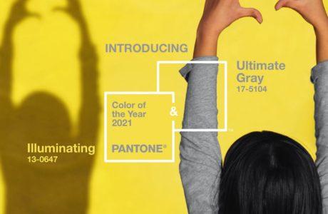kolor roku instytut pantone 2021 zółty szary plakat