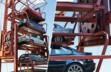 mechanizm parkingu pionowego