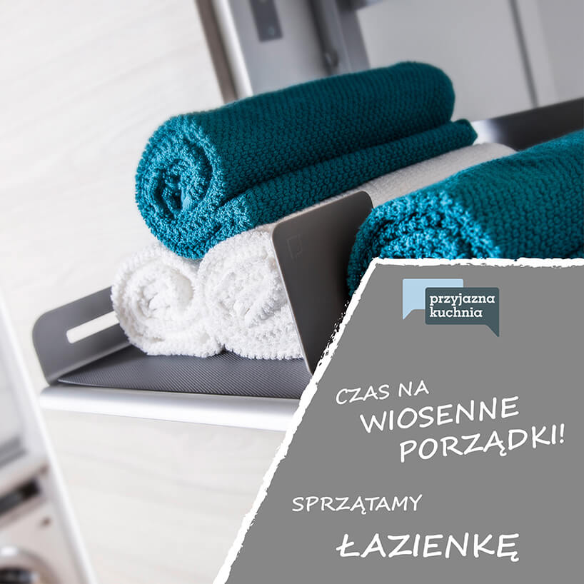 szary organizer od PEKA na ręczniki