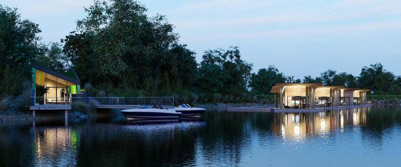 wizualizacja projektu pokoi hotelowych nad wodą wpięciogwiazdkowym hotelu wŁodzi