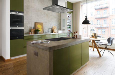 zielona wyspa w kuchni