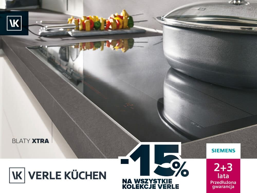 Piękne kuchnie wobniżonych cenach - promocja marki Verle