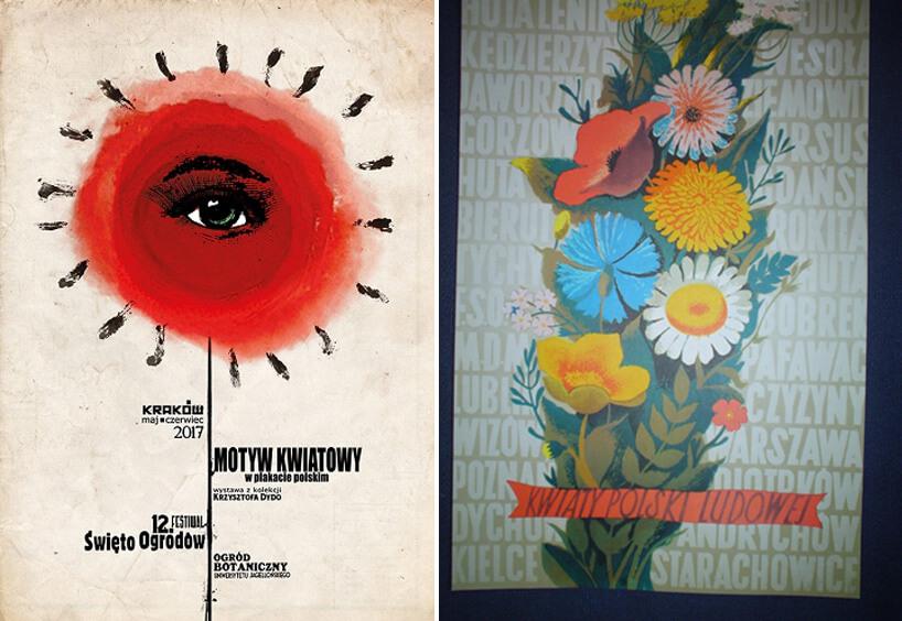 dwa plakaty zmotywem kwiatowym