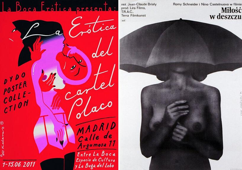 dwa plakaty zmotywem rozebranej kobiety
