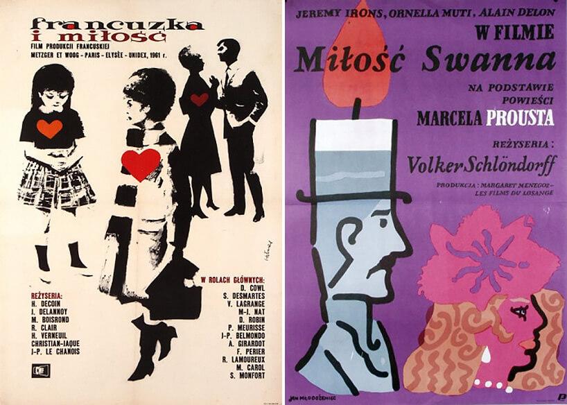 dwa plakaty filmowe omiłości
