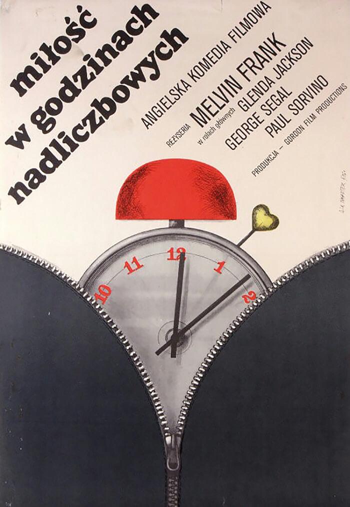 plakat filmowy zbudzikiem analogowym
