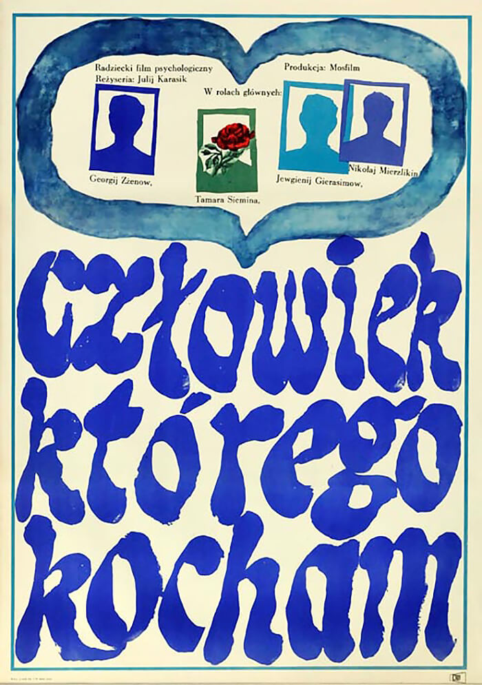 plakat omiłości zniebieskim tytułem
