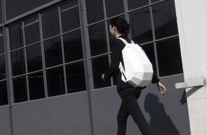 biały plecak Lijmbach Leeuw Vormgeving