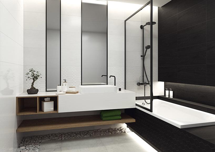 łazienka zwanną zpłytkami Taiga zParadyża