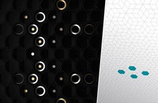 płytki cube dot - czarne i białe