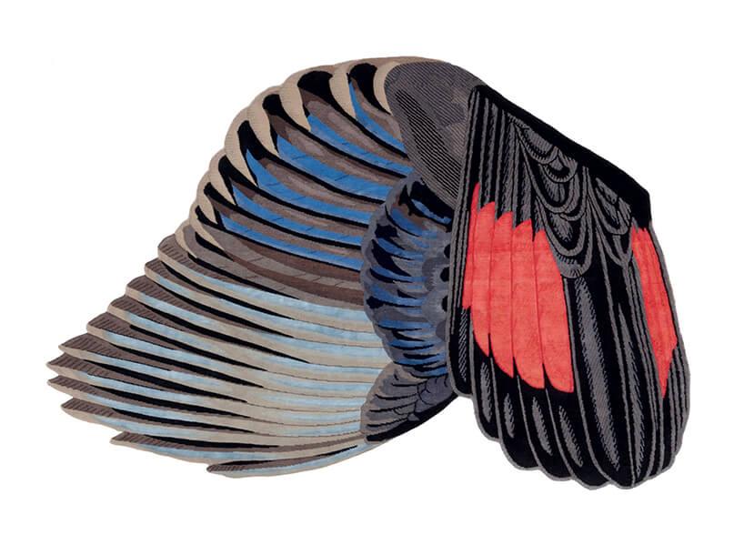 wyjątkowy dywan od CC Tapis wkształcie skrzydła