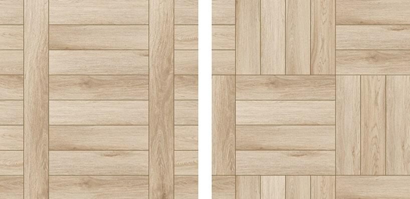 panele podłogowe stylizowane na drewniane podłogi wjasnym brązie