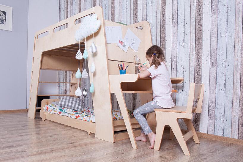biurko złożkiem piętrowym dla dzieci