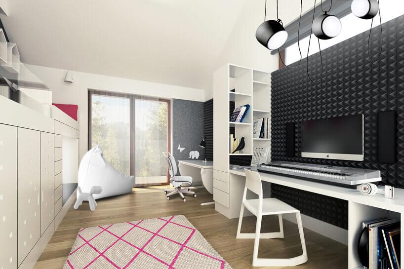 elegancki pokój dla chłopca