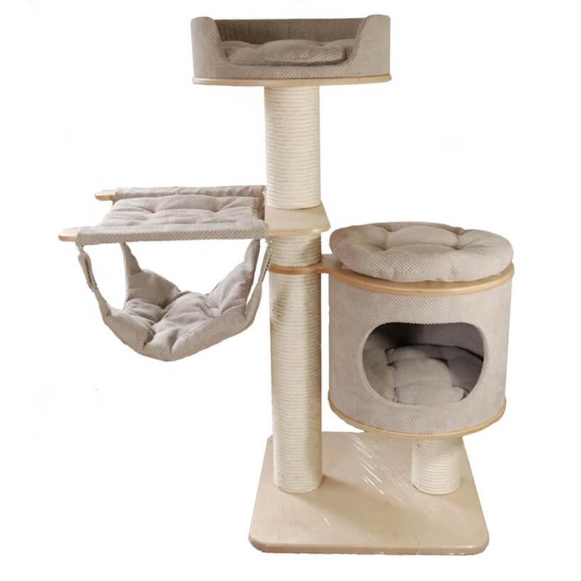 Drapaki dla kota wkolorze jasnego beżu