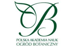 zielony logtyp Ogrodu Botanicznego Polskiej Akademii Nauk