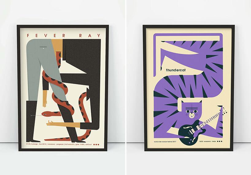 dwa rysunkowe plakaty zmotywem zwierzęcym