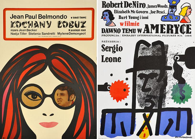 dwa rysunkowe plakaty