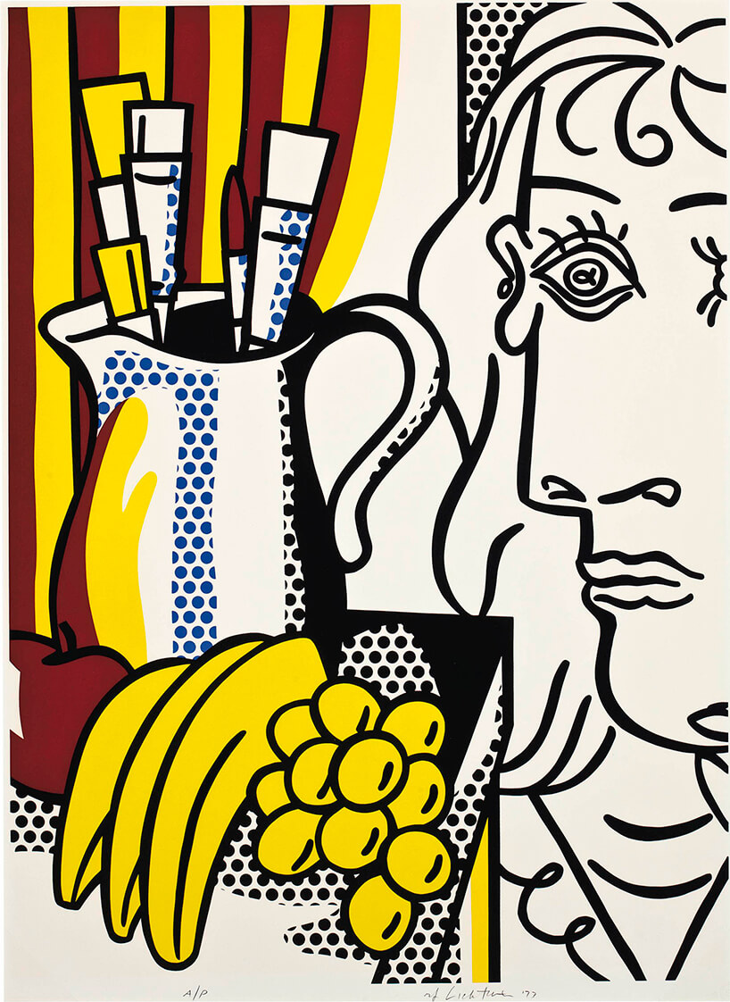 grafika Still Life with Picasso via Artsy w stylu pop art interpretacja obrazu Picassa