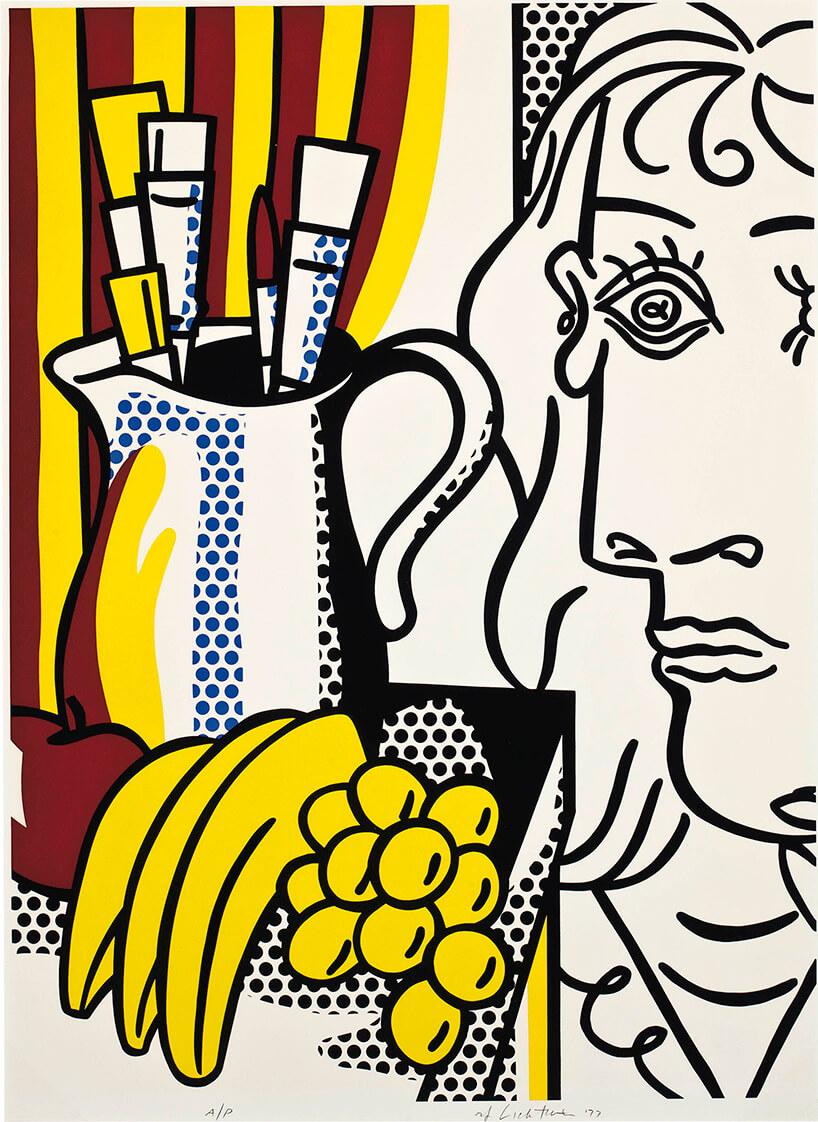 grafika Still Life with Picasso via Artsy wstylu pop art interpretacja obrazu Picassa