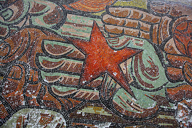 czerwona gwiazda zmozaiki