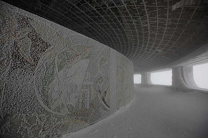 ściana wewnętrzna tarasu widokowego