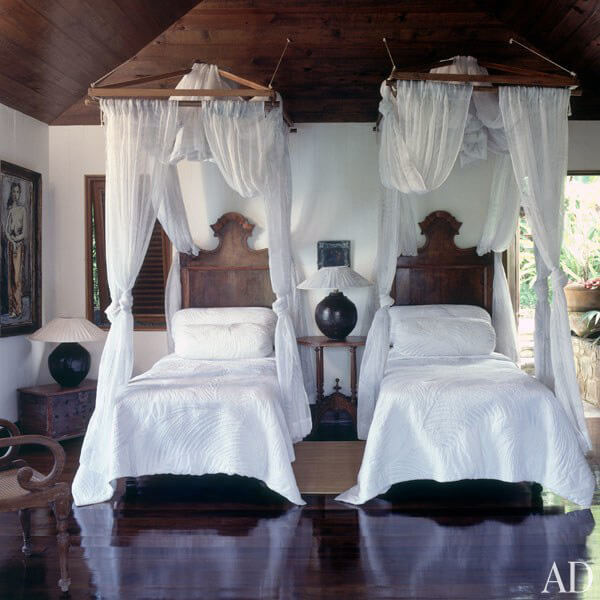 sypialnia dla gości wstylu balijskim