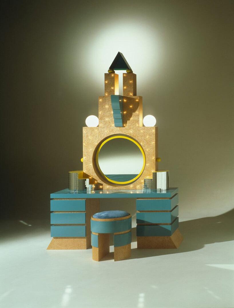 złoto-turkusowa toaletka