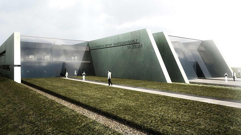 nowoczesne muzeum zdużymi witrynami