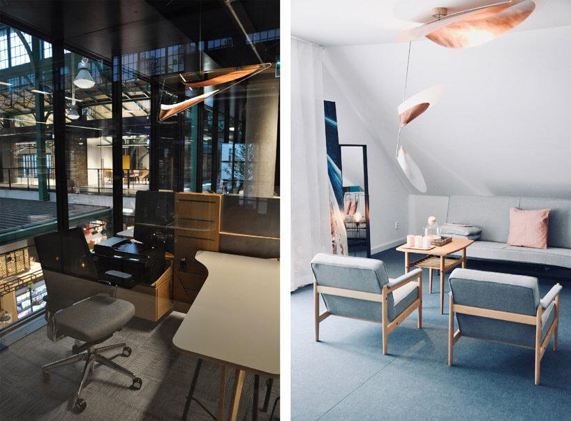 dwie nowoczesne przestrzenie do pracy biurowej