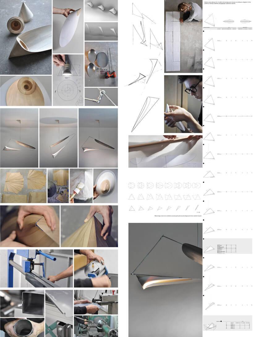 proces tworzenia nie typowej lampy
