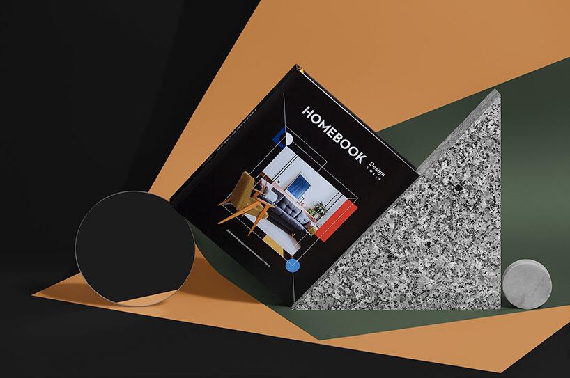 oparty pod kątem album Homebook Design vol. 6 otrójkątny kamienny element