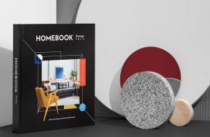 album Homebook Design vol. 6 obok róznych okrągłych elementów dekoracyjnych