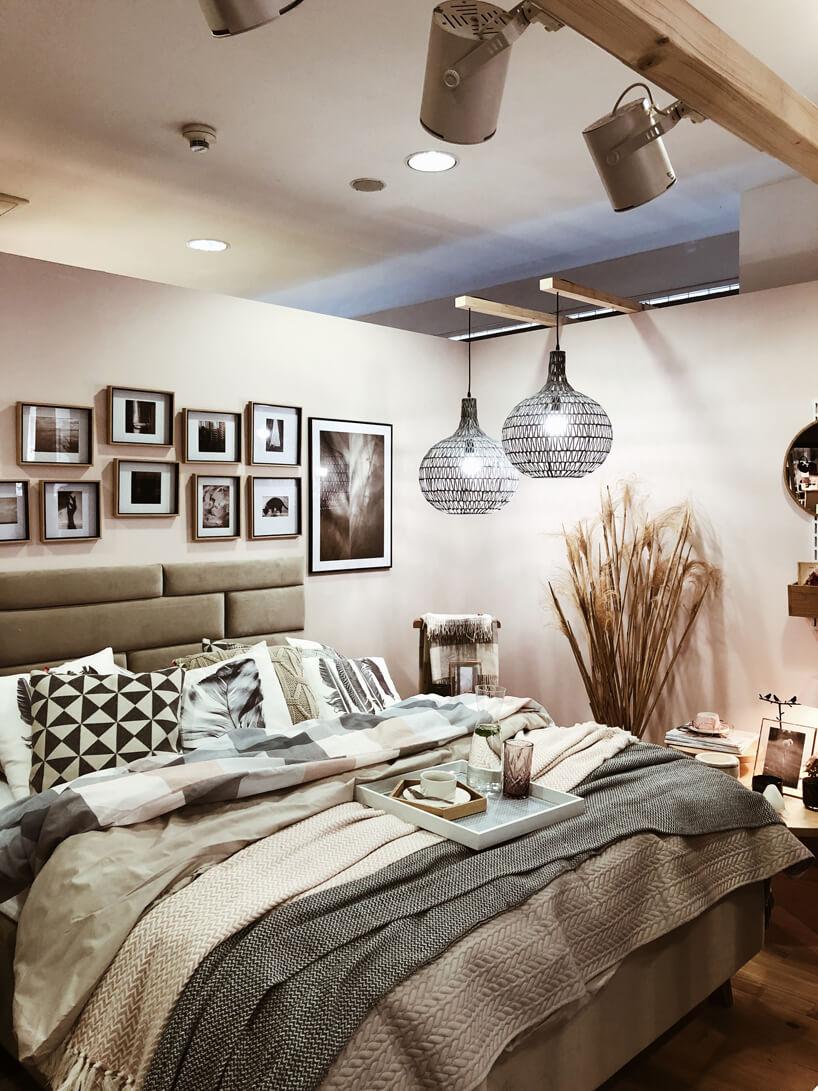 aranżacja sypialni od VOX wbeżowych kolorach